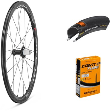 Fulcrum Racing Quattro Carbon 700c Wheelset with Tyres and Tubes