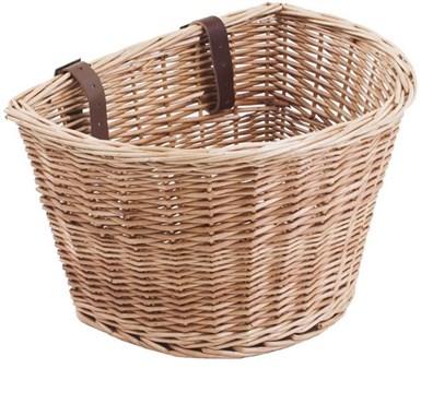 M Part D Shaped Wicker Basket