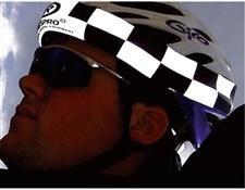 Hump Hi-viz Nitesight Helmet Band Chequered
