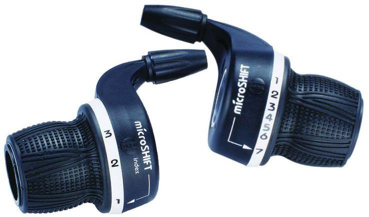 Microshift MS29-6 MTB Twist Shifters 6 Speed | Gear levers