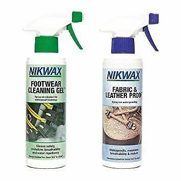 Nikwax Footwear Cleaning Gel Spray/Fabric & Leather Proof Spray
