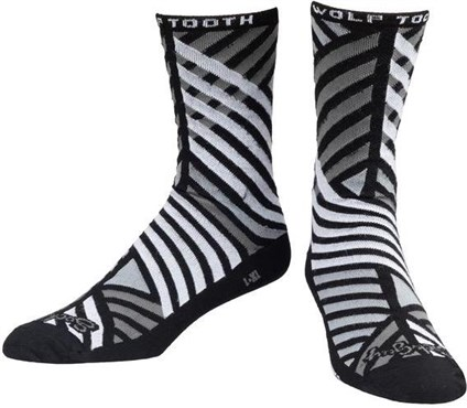 Wolf Tooth Sock Guy Grid Pattern Socks