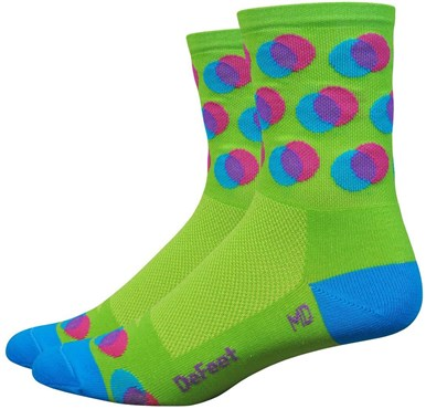 "Defeet Aireator 4"" Blurred Socks"