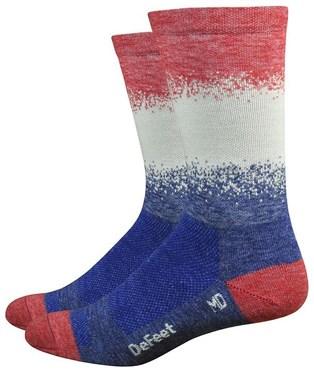 "Defeet WoolEator Comp 6"" Fade Socks"