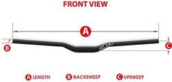 Azonic Flow Freeride MTB Handlebar 18mm Rise