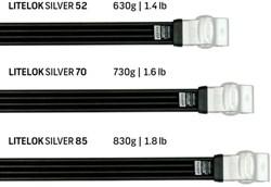 Litelok Twin Pack Silver Lock - Sold Secure Silver