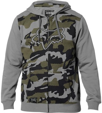 Fox Clothing Destrakt Camo Zip Fleece Hoodie