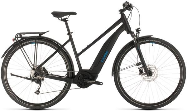 Cube Touring Hybrid One 400 Trapeze Womens 2020 - Electric Hybrid Bike | City-cykler