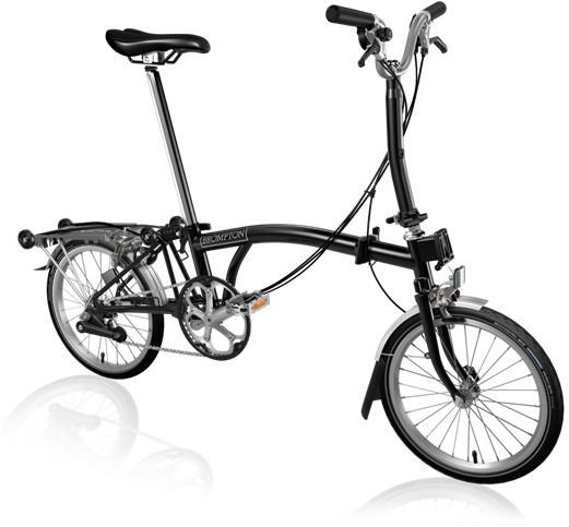 Brompton M6R - Black 2020 - Folding Bike | Folding