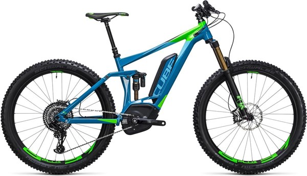 "Cube Stereo Hybrid 140 HPA 27.5""+ SLT 500 - Nearly New - 20"" 2017 - Electric Mountain Bike"