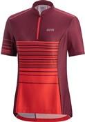 Gore C3 Womens Striped Zip Short Sleeve Jersey