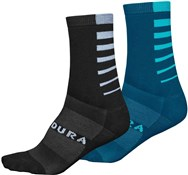 Endura Coolmax Stripe Cycling Socks II - 2-Pack