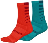 Product image for Endura Coolmax Stripe Womens Socks (Twin Pack)