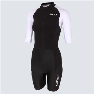 Zone3 Lava Long Distance Womens Short Sleeve Full Zip Trisuit