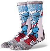 Stance Captain America Comic Crew Socks
