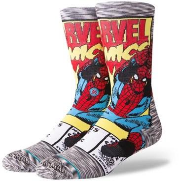 Stance Spiderman Comic Crew Socks