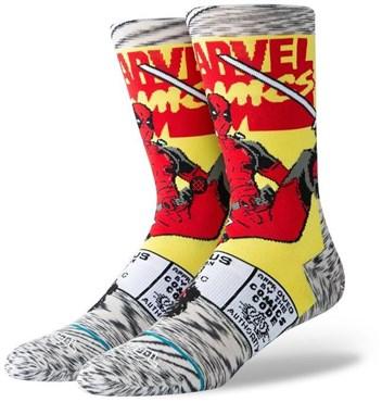 Stance Deadpool Comic Crew Socks