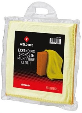 Weldtite Dirt Wash Sponge and Microfibre Cloth