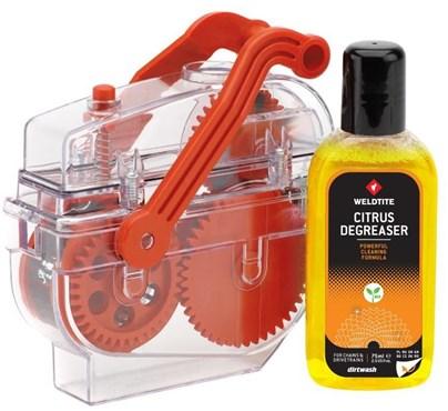 Weldtite Dirt Wash Chain Cleaner Machine Plus 75ml Citrus Degreaser