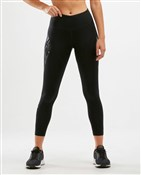 Product image for 2XU Mid-Rise Text Womens Compression 7/8 Tights