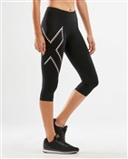 Product image for 2XU Mid-Rise Womens Compression 3/4 Tights