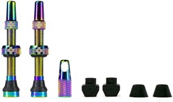 Product image for Muc-Off Iridescent Tubeless Presta Valves (Pair)