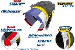 """Michelin DH 22 27.5"""" Tubular Tyre"""