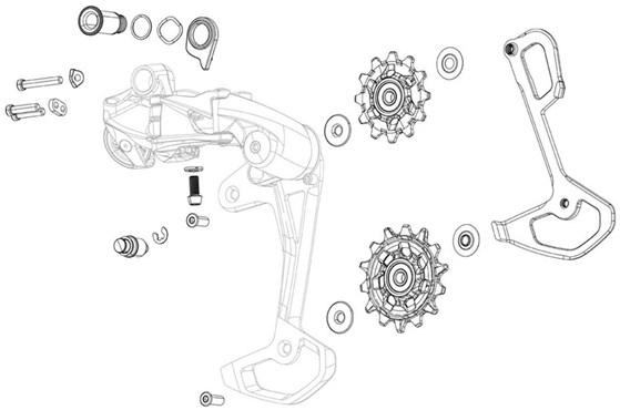 Sram Rear Derailleur Pulley Kit X9/x7/gx 2x10 Type2 Qty 2