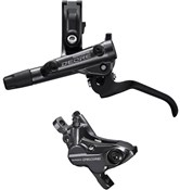 Product image for Shimano Deore BR-M6120 4 pot calliper assembly post mount BL-M6100 Lever Brake Set