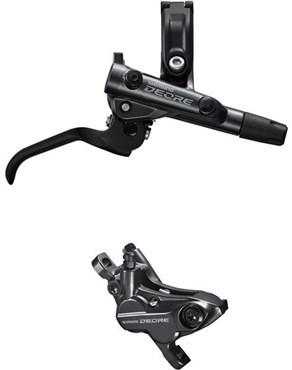 Shimano Deore BR-M6120 4 pot calliper assembly post mount BL-M6100 Lever Brake Set