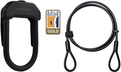 HipLok DX+ D Lock + 2m Cable - Gold Gold Secure
