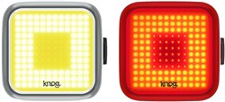 Product image for Knog Blinder Square USB Rechargeable Twinpack Light Set