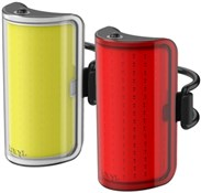 Product image for Knog Cobber Mid USB Rechargeable Twinpack Light Set
