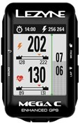 Lezyne Mega C GPS Cycling Computer Smart Loaded