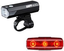 Product image for Cateye Ampp 400 & Rapid Micro Light Set