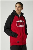 Fox Clothing Emblem Zip Raglan Fleece Hoodie