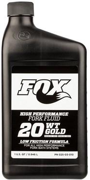 Fox Racing Shox 20 Weight Gold Bath Oil Fork Fluid 32oz