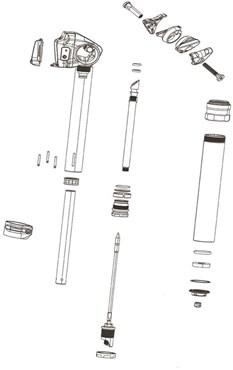 SRAM Rockshox Spare - Seatpost Service Hydraulic Hose (2000mm) Kit
