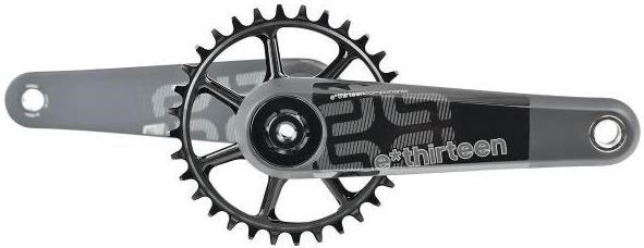 E-Thirteen XCX Race Carbon Mountain Crank with Self Extractor - No BB, No Ring - Standard Decals