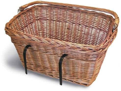 Basil Wicker Rectangular Hook-On Front Basket | Bike baskets