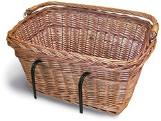 Product image for Basil Wicker Rectangular Hook-On Front Basket