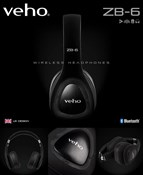 Veho ZB-6 Wireless Bluetooth Headphones with Microphone/Remote Control & Wired Option