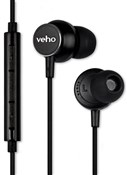 Veho Z3 Noise Isolating In-Ear Stereo Headphones with Built-in Microphone & Remote Control