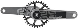 Product image for E-Thirteen TRS Race Carbon Crank with Self Extractor - No BB, No Ring - Standard Decals