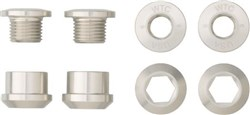 Product image for Wolf Tooth Set of 4 Chainring Bolts+Nuts for 1X - 4 pcs. Nickel 6mm