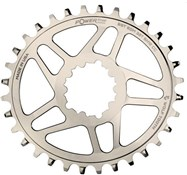 Wolf Tooth Elliptical Direct Mount Chainring for eeWings / SRAM Boost Nickel Shimano HG+