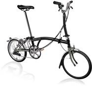 Product image for Brompton M6L Superlight - Black 2021 - Folding Bike