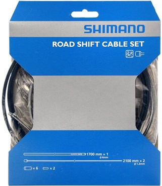 Shimano Road gear cable set with steel inner wire