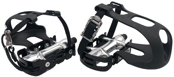 M-Part Alloy Pedals inc. Toe Clips