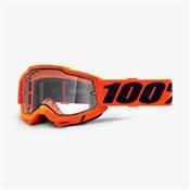 100% Accuri 2 Enduro Moto Clear Dual Lens Goggles